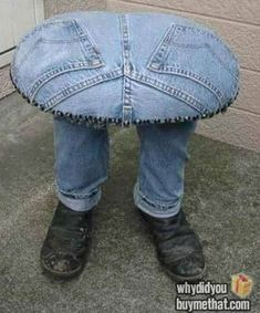 DIY Man Stool - Just when I thought I pinned all you could do with denim....LOL!