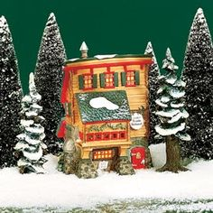 """Elves' Trade School"" -Department 56 North Pole Series - #56.56387 - $50.00 Issued - December 1995 Retired - December 1998"