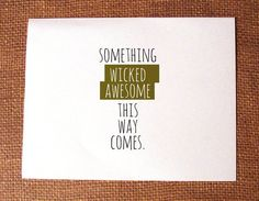 """""""Something wicked awesome this way comes"""" Printable DIY Halloween Invitation. $5.00, via Etsy."""
