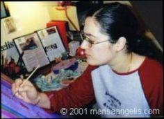Visual Artist Painter Designer Writer Poet Philanthropist Humanitarian Promoter © Marisa Angelis 2001