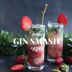Holidays are fast-approaching and we're ready for Friday fizz. So, here's one of our favourite recipes that we like to call. the Gin Smash. 🍸🎉 Please drink in moderation everyone - otherwise you'll be Gin Smashed! Gin Recipes, Drinks Alcohol Recipes, Alcoholic Drinks, Beverages, Christmas Cocktails, Fun Cocktails, Cocktail Drinks, Aussie Christmas, Christmas Lunch