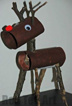 "Adorable little ""twiggy rudolph"". LOVE!"