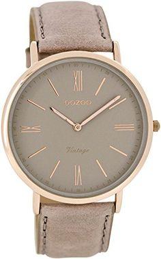Oozoo Damen-Armbanduhr Analog Quarz Leder C7352