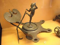 Bronze Oil-Lamp from Pompeii (79 AD) - Naples, Archaeological Museum - Lighting in Antiquity | Flickr - Photo Sharing!
