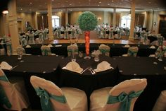 Wedding reception for 200 guests. The colors were very festive.