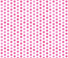 Watercolor Dots: Hot Pink fabric by nadiahassan on Spoonflower - custom fabric