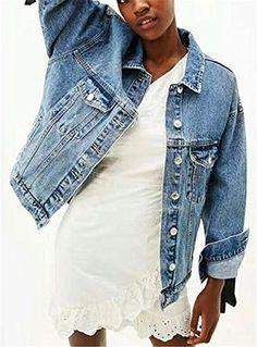 Jeansjacken mit patches