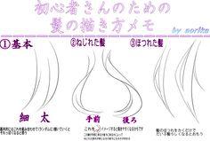 「超初心者さん向け髪の描き方」/「葵莉花」のイラスト [pixiv]