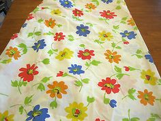 Fitted Sheet Springmaid Bright Multicolor Daisy Design Twin Size Vintage
