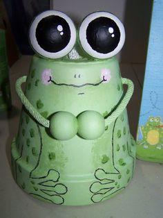 Froggy flower pot bell for techer gift