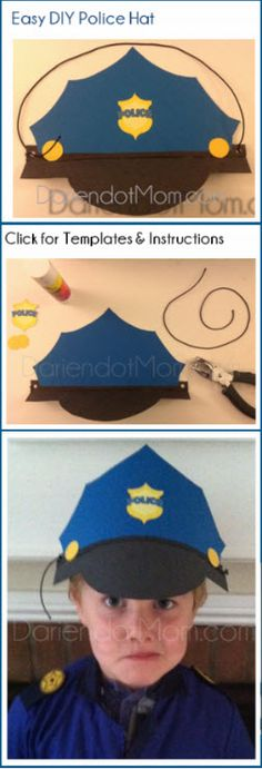 Police Hat for Community Helpers Week Craft Police Activities, Preschool Activities, Police Crafts, Police Officer Crafts, Community Helpers Crafts, People Who Help Us, Police Hat, Community Workers, Hat Crafts
