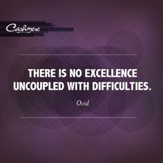 "Cashmere Quote of the Day: ""There is no excellence uncoupled with difficulties"" -Ovid #Quotes"
