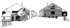 North-east and south-west elevations < Addison house < Buildings < Rex Addison