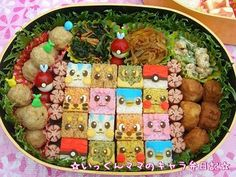 Cubic pokemon bento - I can't even imagine how long this would take.
