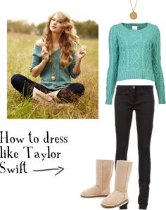 A fashion look from February 2013 featuring long-sleeve crop tops, skinny pants and leather shoes. Browse and shop related looks. Taylor Swift Outfits, Taylor Swift Style, Taylor Swift Halloween Costume, Fall Winter Outfits, Autumn Winter Fashion, Taylor Swift Birthday, Teen Girl Fashion, Ugg Boots Australia, Outfit Combinations