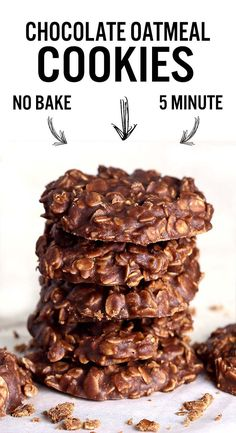 These No Bake Chocolate Oatmeal Cookies made with peanut butter, oatmeal and cocoa are the quickest, tastiest, no bake cookies you'll ever eat though!