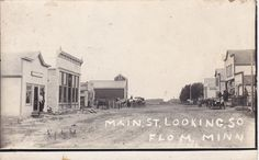 RP: FLOM, Minnesota, 1900-1910's: Main Street (dirt) South