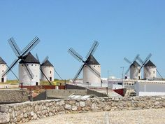 Windmills at Campo de Criptana in Castile-La Mancha, Spain