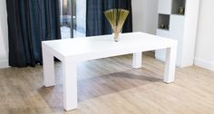 The Emilia White Oak Dining Table is a modern, chunky dining table with a tactile, contemporary white oak wooden veneer. The chunky wooden table top is suppo. Chunky Dining Table, White Oak Dining Table, Dining Table With Bench, Leather Dining Chairs, Wooden Dining Tables, Table Seating, Modern Dining Table, Table Legs, Wooden Table Top