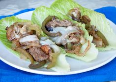 Philly Cheese Steak Romaine Boats