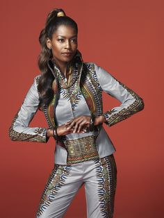 ♥African Fashion ■ SUIT UP WITH ANGELINA ■ Vlisco V-Inspired African Dresses For Women, African Wear, African Women, African Style, African Design, African Inspired Fashion, African Print Fashion, African Prints, Ankara Fashion