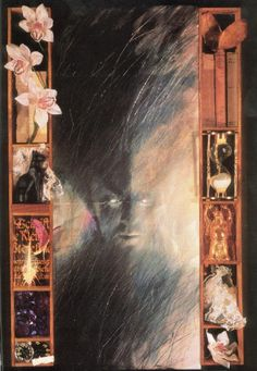 Sandman artwork by Dave McKean. I was able to see this at now defunct Words and Pictures Museum!