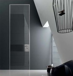 Tekno bespoke door in glass by Oikos Venezia  www.oikos.it