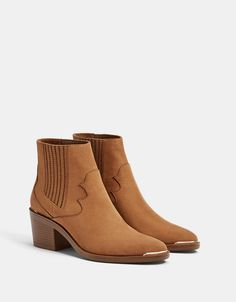Elastic cowboy ankle boots. Discover this and many more items in Bershka with new products every week