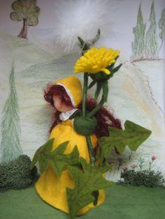 Jahreszeitentisch - Löwenzahn für den Waldorf - Jahreszeitentisch - ein Designerstück von Blumenkinder-Unikate bei DaWanda