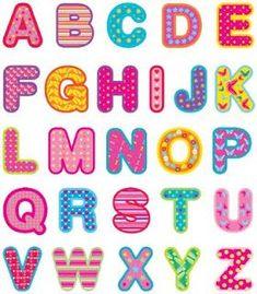 Letras Bonitas Para Imprimir De Colores Imagui