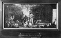 [Exposition Lepic]  En 1869 en visite au musée de Saint-Germain Ludovic Lepic s'interroge sur la fonction des haches flèches et autres outils en pierre. Pendant plusieurs mois il mène alors des expérimentations très rigoureuses pour reconstituer des objets trouvés en fouilles dans les lacs suisses ou des objets ethnographiques dont il possédait plusieurs exemplaires. En cela il peut être considéré comme un précurseur de l'archéologie expérimentale. Ce tableau qu'il peint en 1870 met en scène…
