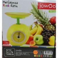 Jowoo Meyve Mutfak Terazisi  Terazinin üzerinde yer alan tabağa gıdalarınızı yerleştirip tartma işlemini kolay bir şekilde istediğiniz seviyede yapabilirisiniz.   Son derece sevimli bir meyve tasarımı ile sizlere sunulan Jowoo Meyve Mutfak Terazisi aynı zamanda mutfağınıza hoş bir hava katarak farkınızı ve tarzınızı ortaya koymanızda büyük bir rol üstlenecek.