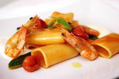 Paccheri, gamberi, pomodoro e zucchine…semplicemente perfetti!