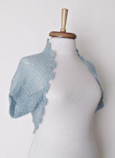 Baby Blue Shrug boleroWedding ShrugBridal Shrug by knittingshop, $65.00
