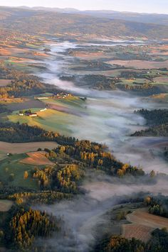 Eastern Norway | The 50 Most Beautiful Shots Taken Out Of AirplaneWindows