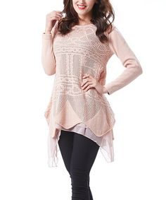 Look what I found on #zulily! Pointelle Chiffon Sidetail Tunic - Women #zulilyfinds