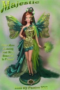 Barbie Fairy Butterfly Wings Collector Doll Altered OOAK Custom Exotic Passion | eBay