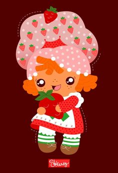 Drew my take on the classic character Strawberry Shortcake! You can find her on products on my RedBubble shop here: https://www.redbubble.com/people/penguinfreaksh3