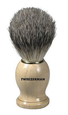 Tweezerman Men's Shaving Brush (Health and Beauty) Mens Shaving Brush, Badger Shaving Brush, Shaving Tips, Wet Shaving, Shaving Products, Hair Products, Shaving Supplies, Shaved Hair, Men's Grooming