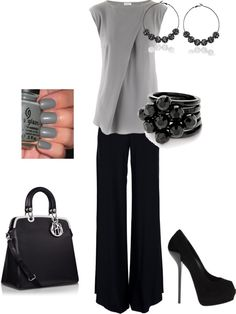 """Work Chic"" by crucker73 on Polyvore; I would have to throw som ""pop of color"" in there somewhere"