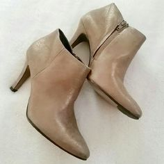Paul Green Rose Gold Metallic Ankle Boots Paul green rose gold booties in US 8. 3 inch heels. New. No box though. Paul Green Shoes Ankle Boots & Booties