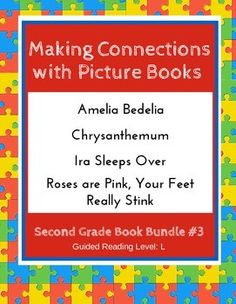 Making connections mini lessons reading strategieslessonsideas making connections with picture books second grade book bundle 3 ccss fandeluxe Choice Image