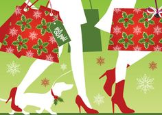 The official Holiday Girls Night Out artwork!  Holiday Girls Night Out will be on Thursday, December 12th from 5-9 pm.