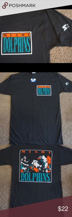 VINTAGE RARE STARTER Miami Dolphin 🐬 Medium Tee VINTAGE 1989 RARE STARTER Miami Dolphin 🐬 Medium Tee, vintage, never worn. Please keep in mind this item is VINTAGE. 💕PERFECT unique gift for Valentine's Day. BUNDLE 2 or more receive 15% OFF. Will accept REASONABLE 😊 offers Shirts Tees - Short Sleeve