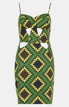 Oh la la! Topshop Geometric Cutout Dress