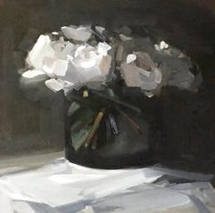 Flower paintings by Amy Brnger Flower Vases, Flower Art, Easy Flower Painting, Flower Paintings, Still Life Art, Abstract Flowers, Painting Inspiration, Art Forms, Amazing Art