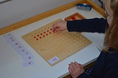 Montessori Math-  Multiplication Bead Board
