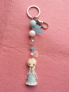 Keychains Elsa frozen in fimo polymer clay by Artmary2 on Etsy, €12.00