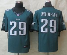 """$23.88 at """"MaryJersey""""(maryjerseyelway@gmail.com) Nike Eagles 29 DeMarco Murray Midnight Green Team Color Men Stitched NFL New Limited Jersey"""