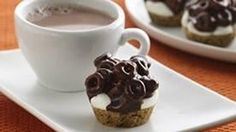 Chocolate Cheerios® Marshmallow Bites Recipe - looks so easy and yummy! Cheerios Recipes, Cereal Recipes, Snack Recipes, Dessert Recipes, Brunch Recipes, Baking Recipes, Sweet Recipes, Yummy Recipes, Recipies